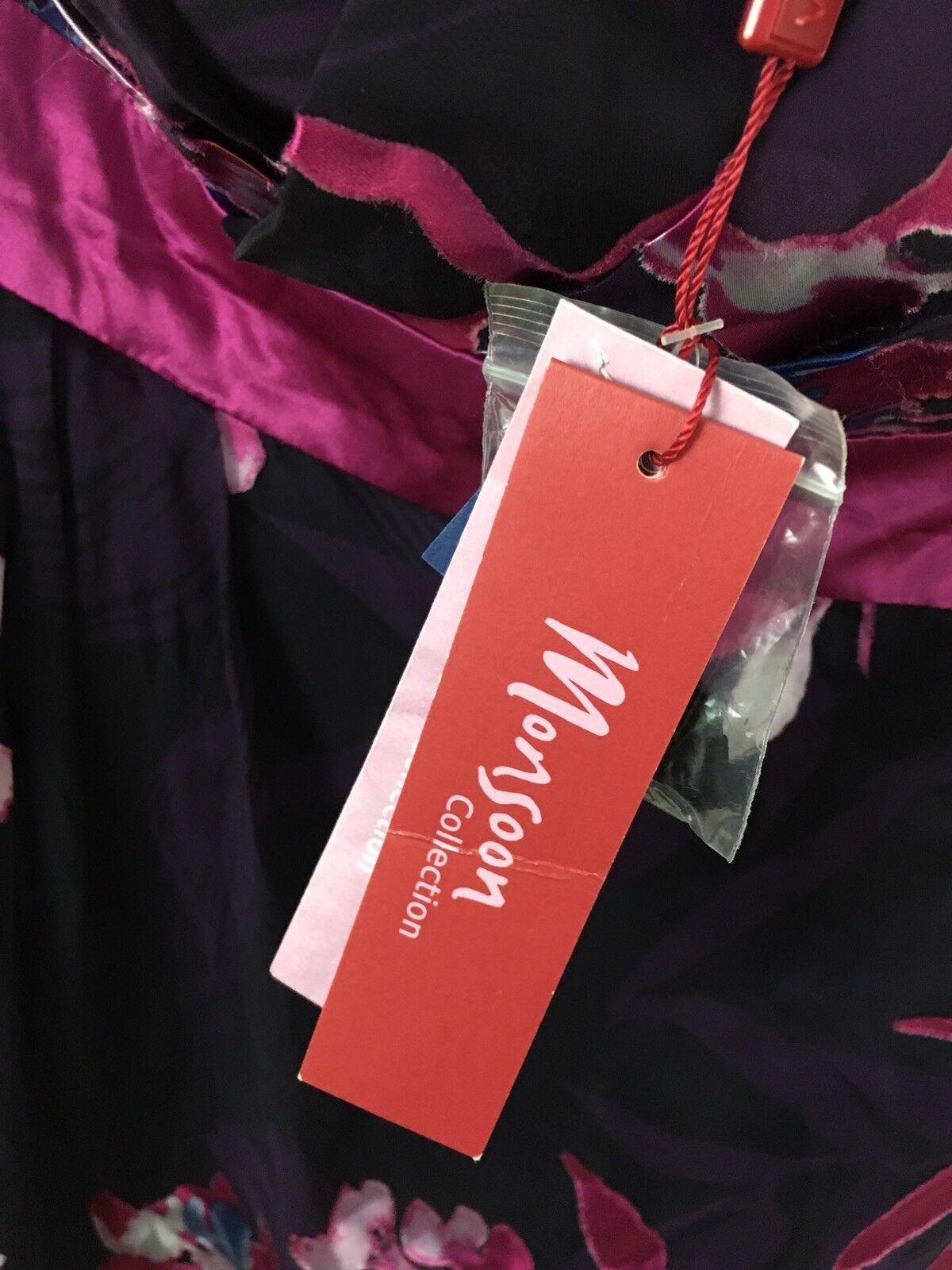 MONSOON senza spalline dress-Taglia UK12-FLOREALE-NUOVO CON ETICHETTE ETICHETTE ETICHETTE 5d0a1a