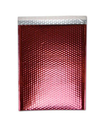 """Metallic Bubble Mailers Padded Envelope Shipping Bags 13/"""" x 17.5/"""" Red 100 Pieces"""