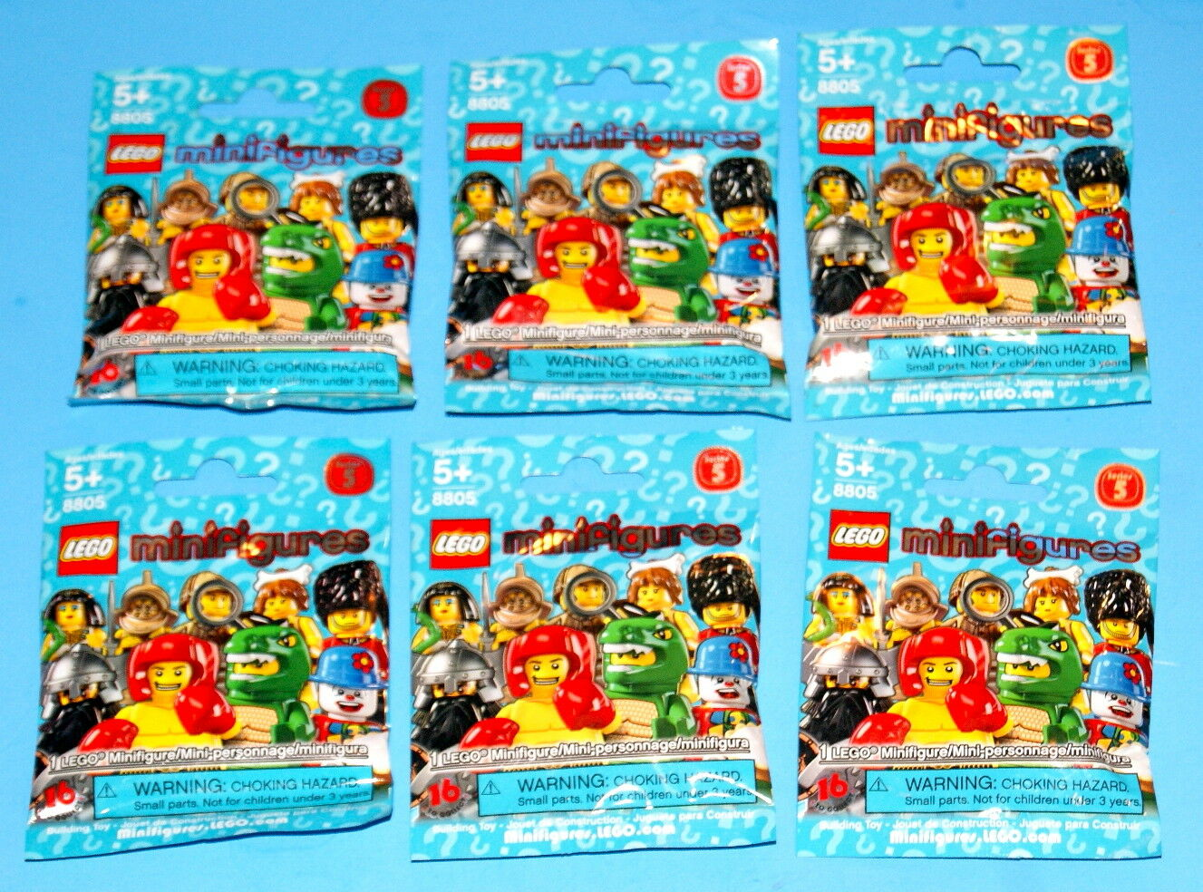 LEGO SERIES 5 MINI FIGURES LOT OF 6 UNOPENED BAGS