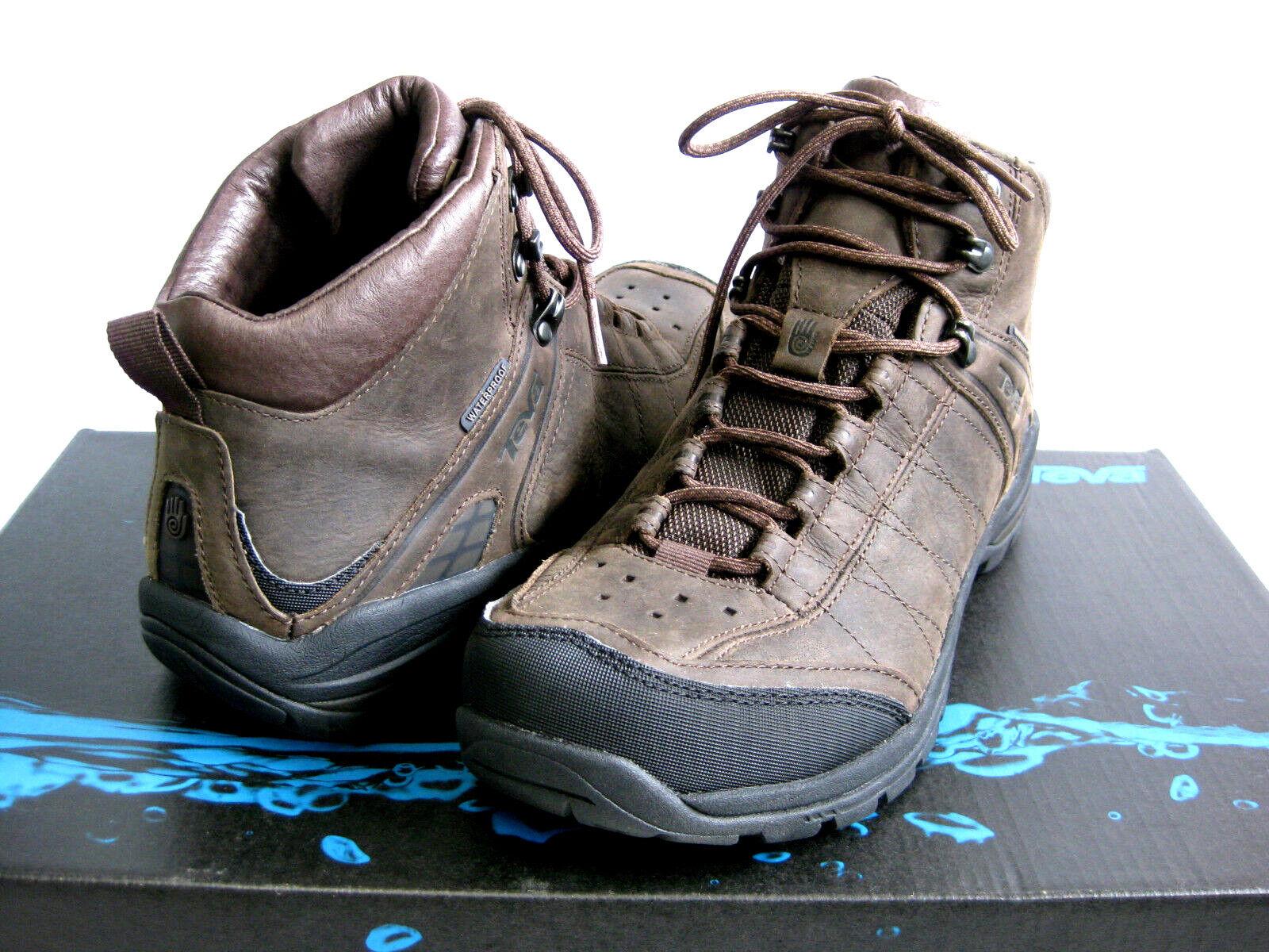 botas Para Excursionismo Hombres TEVA KIMTAH Mid WP Cuero Marrón US 10.5