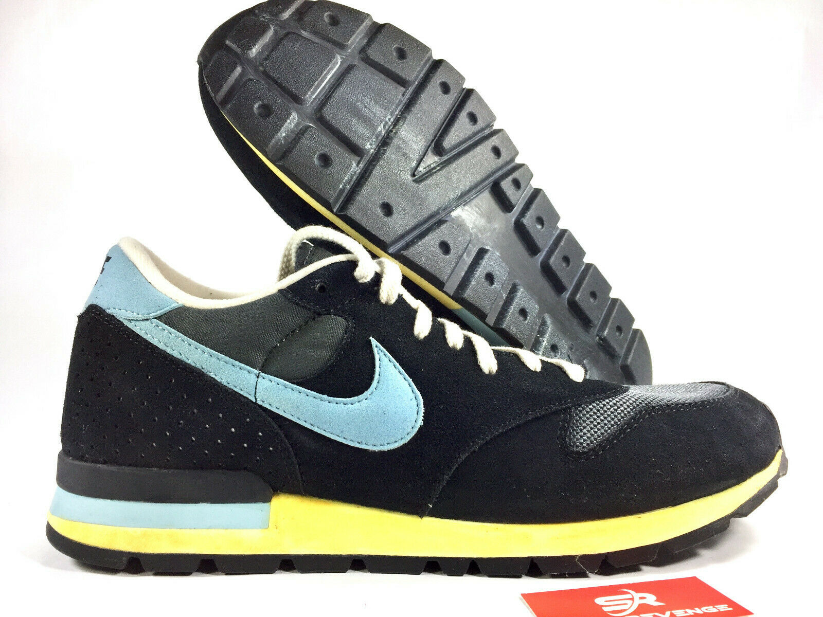 13 New NIKE AIR EPIC 525249-040 Retro shoes Anthracite   blueee-Black Yellow x1
