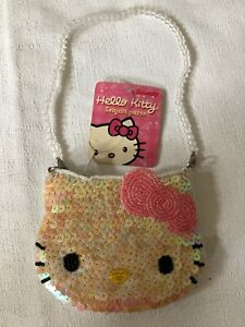 RARE-NWT-Sanrio-Hello-Kitty-Sequin-Purse-2003-Edition