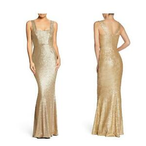 Dress-the-Population-Raven-Gold-Sequin-Mermaid-Square-Neck-Dress-Extra-Small