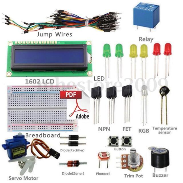 Project 1602 LCD Starter Kit For Arduino UNO R3 Mega 2560 Nano Servo With PDF