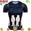 Mens-Marvel-Compression-Armour-Base-Layer-Gym-Top-Superhero-Cycling-T-shirt-fit thumbnail 9
