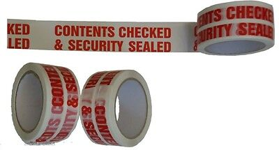 Pack of 3 Triplast 48 mm x 66 m Contents Checked Printed Low Noise Parcel Packing Tape