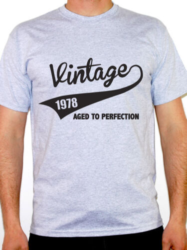 VINTAGE 1978 AGED TO PERFECTION Birth Year //Birthday Gift Themed Men/'s T-Shirt