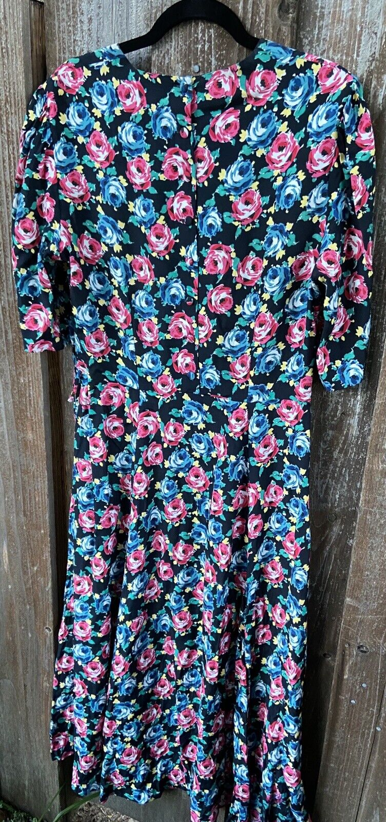 80s 90s Vtg Floral Print Laura Ashley Dress Cotta… - image 12