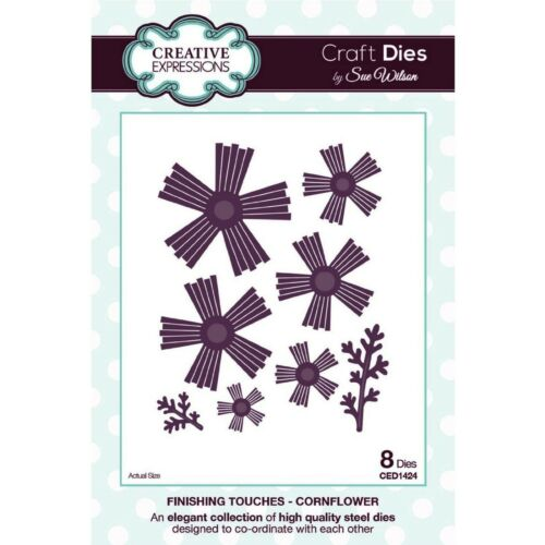 SUE WILSON FINISHING TOUCHES COLLECTION CORNFLOWER DIE FROM CREATIVE EXPRESSIONS