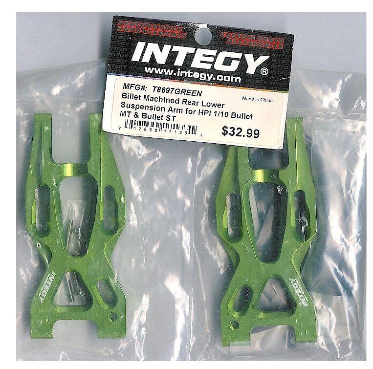 Integy T8697GREEN CNC REAR Lower Suspension Suspension Suspension Arm HPI 1 10 Bullet MT Bullet ST NIB 29d0bd