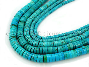 Stabilized-Turquoise-Gemstone-Heishi-Beads-16-039-039-2mm-3mm-4mm-6mm-8mm-10mm-12mm