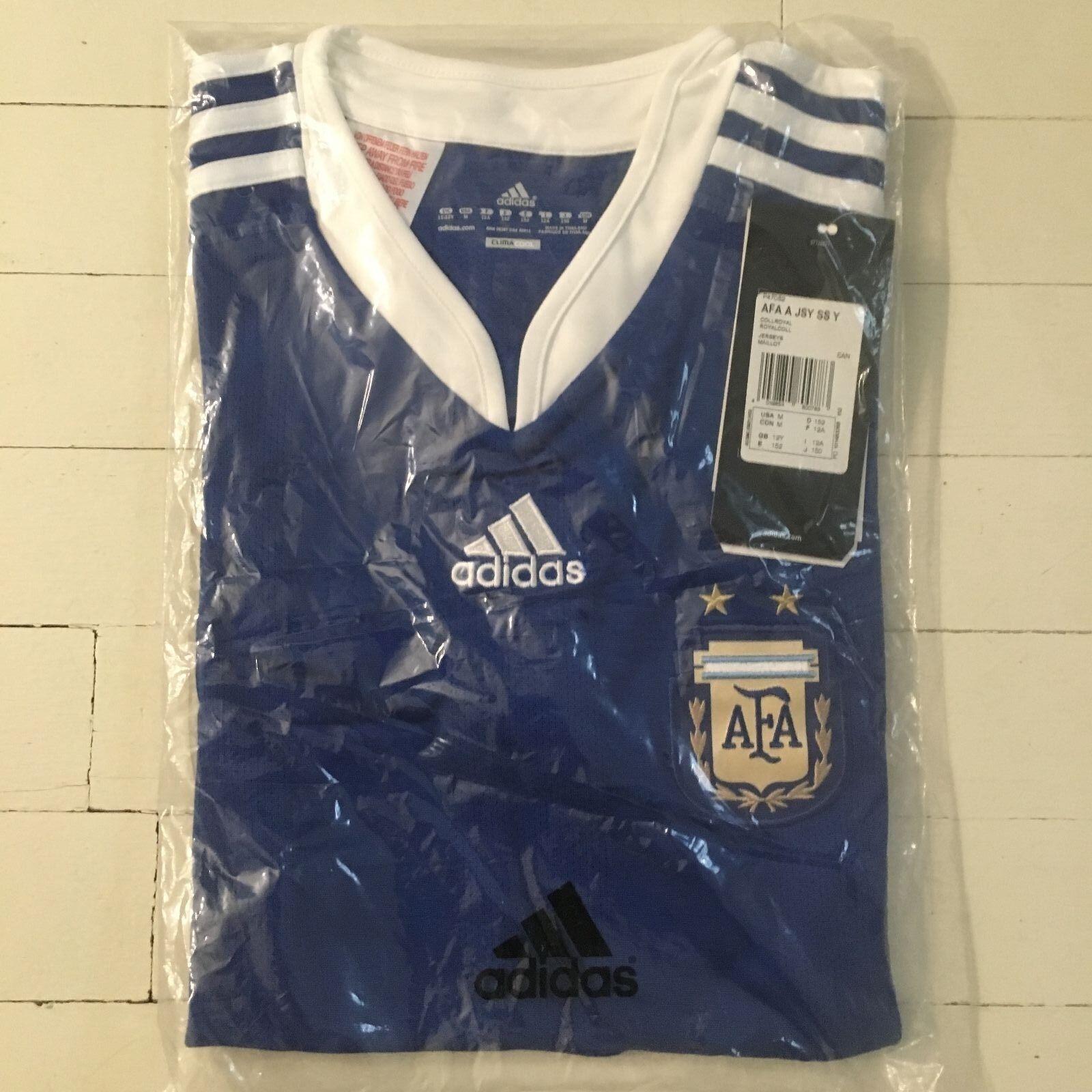 Adidas silverINA  Youth M Medium Kids Soccer Jersey ⚽️ NEW Official Replica