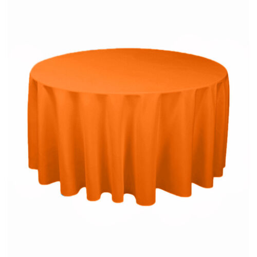 """Variety of Colors Tablecloth Round Seamless 108/"""" Polyester By Broward Linens"""