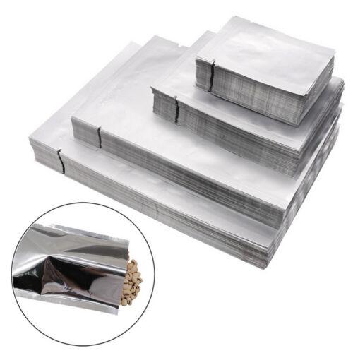 100x Heat Seal Aluminium Foil Bags Vacuum Sealer Pouches Food Grade Storage Bag