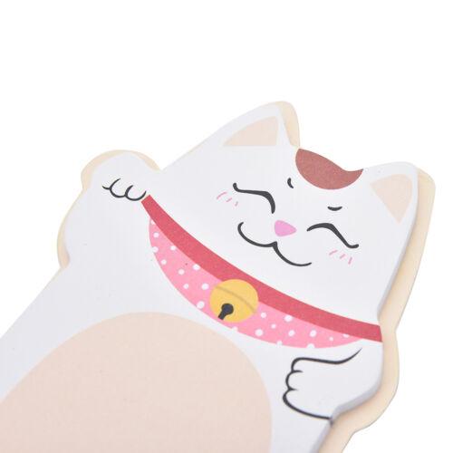 Korean Lucky Cat Beckoning Maneki Neko Memo Bookmark Sticky Notes ME