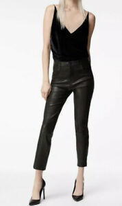 exquisite style nice shoes best online $998 J BRAND JB001059 Ruby High-Rise Cropped Cigarette In Black ...