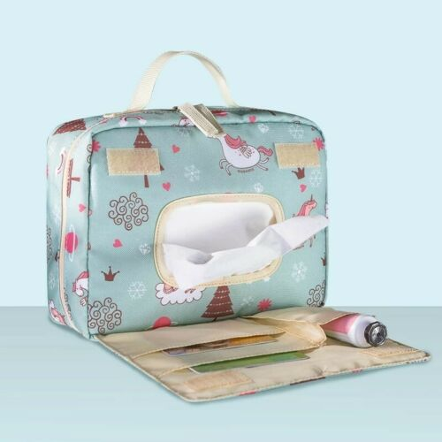 Fashionable Wet wipe Diaper Nappy Organiser Travel Bag Baby Parent Holder
