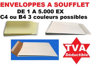SystéMatique Enveloppes, Pochettes à Soufflet C4 Ou B4 - Blanche Marron Duplex De 1 à 5000 Un Style Actuel
