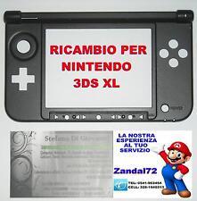 COVER CASE SCOCCA DI RICAMBIO PER NINTENDO 3DS XL COLORE NERO 3DSXL 3DSLL