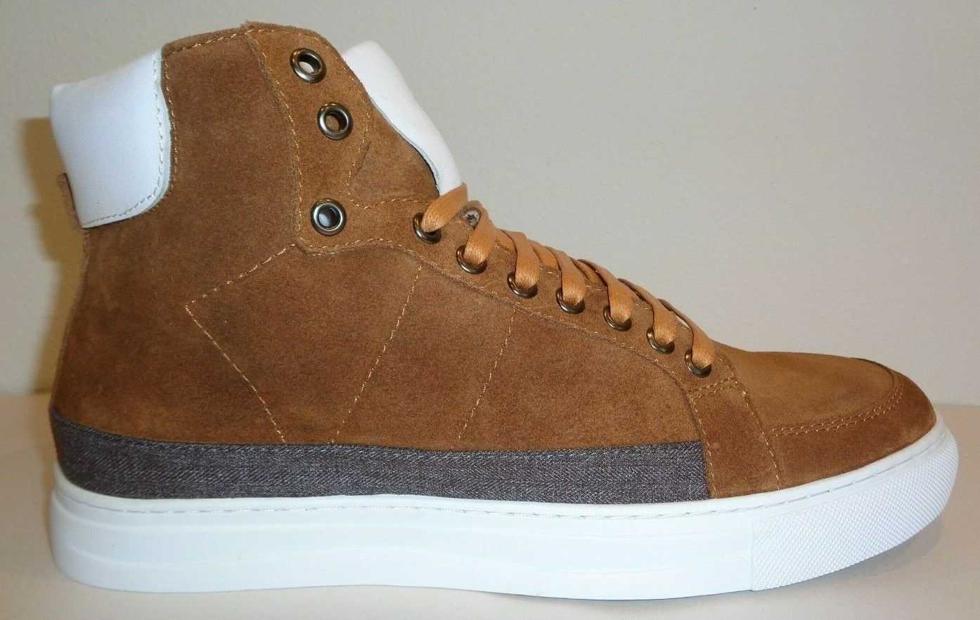 English Laundry Size 10 HIGHFIELD Cognac Suede Fashion Sneakers New Mens shoes