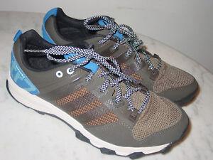2015-Adidas-Kanadia-7-B33628-Umber-Black-Blue-Trail-Running-Shoes-Size-10