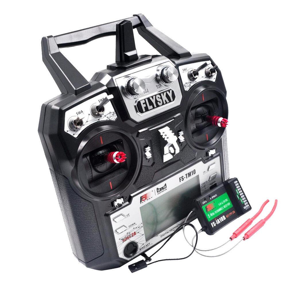 FS-TM10 2.4G 10 Canali TRASMETTITORE CON RICEVITORE iA10B Sistema Radio RC Modello
