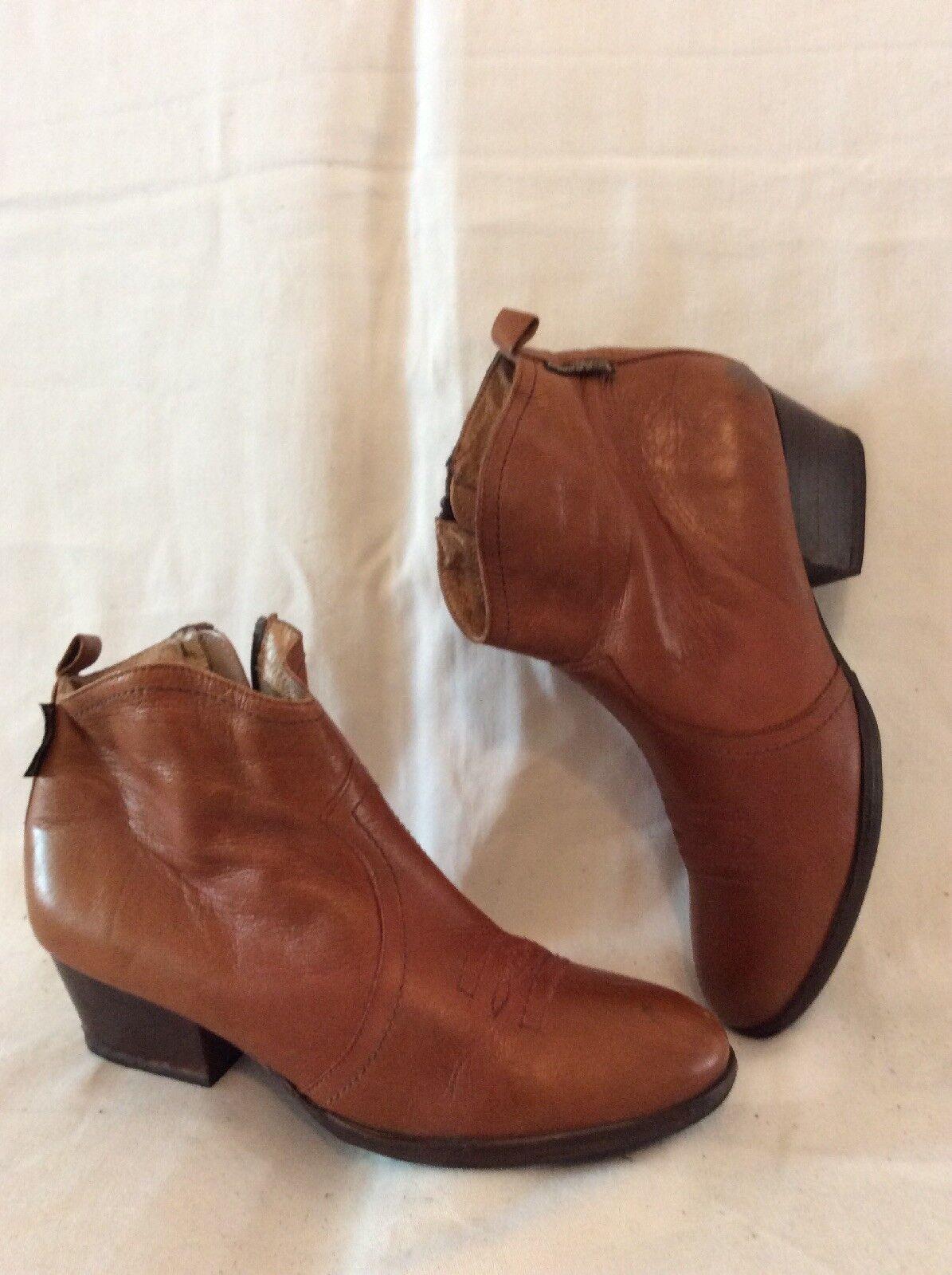 Russell & Bromley Marrón Marrón Marrón Tobillo botas De Cuero Talla 37  tienda en linea