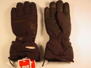 New Reusch Stormbloxx Leather Palm Ski Gloves Medium (8.5) Typhoon 2901203 Black