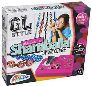 Stile-GL-Make-Your-Own-Shamballa-Perline-Braccialetto-Set-gioielli-artigianali-per-bambini-KIT