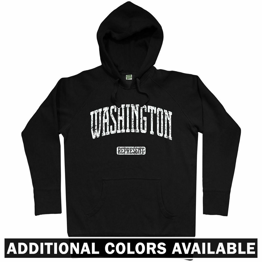 Washington Represent Hoodie - DC Seattle Spokane Tacoma 202 206 Forks  Men S-3XL