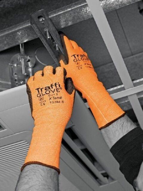 TraffiGlove TG384 Cut Level 3 X-Tend Long Cuff Gloves XL 10