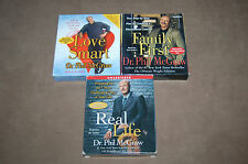 3 DR. Phil Audio Books Real Life, Love Smart and Family First on CD