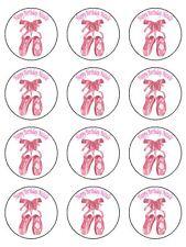 "12 x 2"" Ballet Dancer Personalised Edible Rice Paper Cupcake / Cake Bun Toppers"