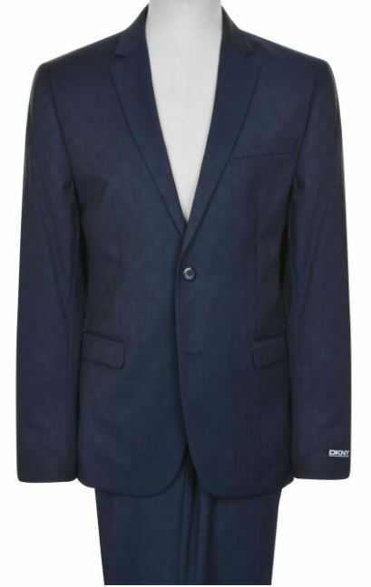 DKNY Notched Lapel Suit Herren  100% Super Fine Wool Größe 46R/40in - SLIM FIT