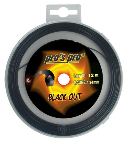 Pro's Pro Black Out 1.24mm 16L Tennis Strings Set