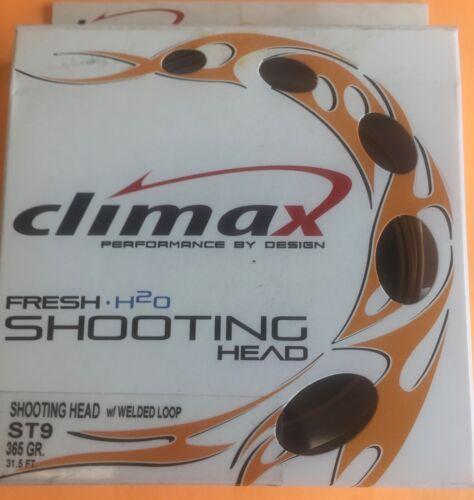 Floating Fly Line W//Welded Loop Climax Shooting Head ST 9 365 Grain 31.5 ft