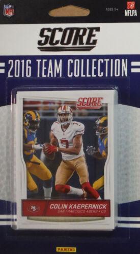San Francisco 49ers 2016 Score EXCLUSIVE Factory Team Set Gabbert Buckner Colin
