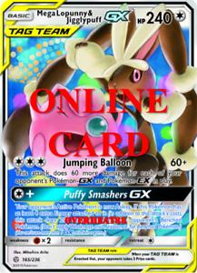 Mega Lopunny /& Jigglypuff GX RA Cosmic Eclipse Pokemon TCG ONLINE Card PTCGO