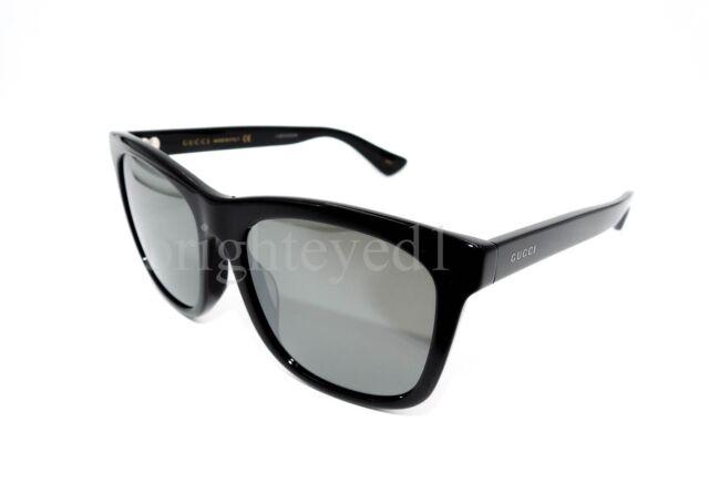 eb1bd999d4a2c Gucci Sunglasses GG 0057sk Black Silver 001 Authentic for sale ...