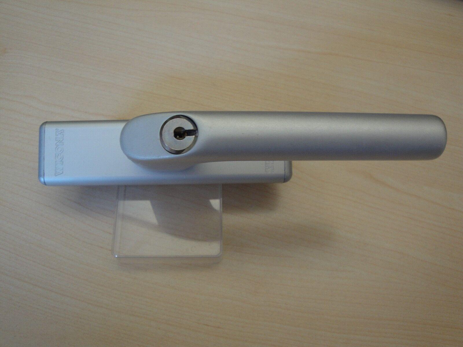 Fenstergriff Getriebe Wicona GEZE Roto silber abschließbar     mit Zubehör 061675   Sale Outlet  c30edf