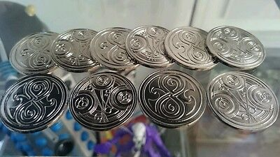 RARE SET OF 10 GALLIFREYAN COINS DOCTOR WHO