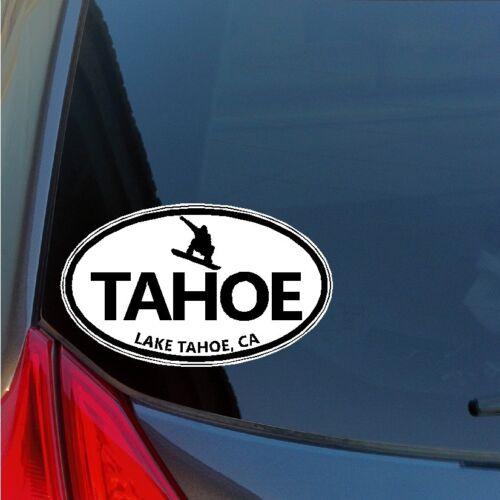 Lake Tahoe Snowboard oval sticker decal car truck window truckee sierra CA NV