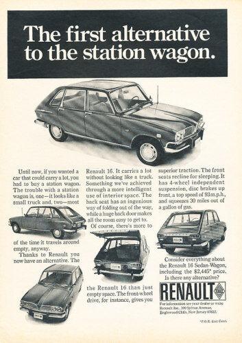 1969 Renault 16 Alternati Classic Vintage Advertisement