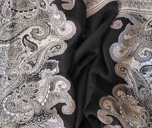 Black-amp-Shades-of-Gray-Wool-Jamavar-Scarf-Paisley-Jamawar-India-Wrap-Pashmina