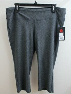 New-Balance-Women-039-s-Size-Large-Sport-Space-Dye-Capri-Grey-Leggings-NWT-01