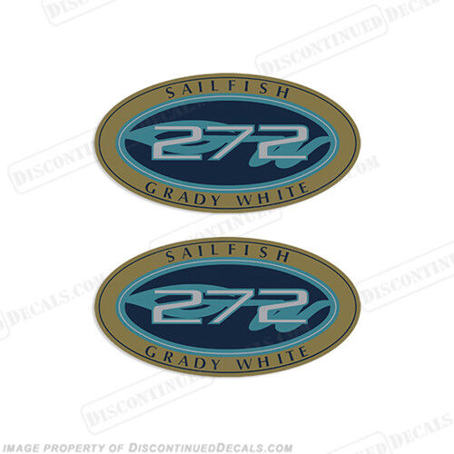 Grady White Sailfish 272 Logo Decals Decal Reproductions in Stock Set of 2