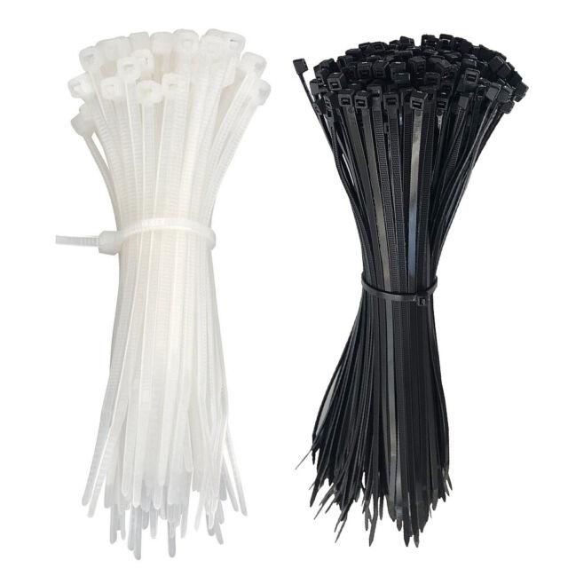 "100pcs  4/"" 8/"" 10/"" 12/""  Plastic Cable Zip Ties Heavy Duty Nylon Wrap Wire"