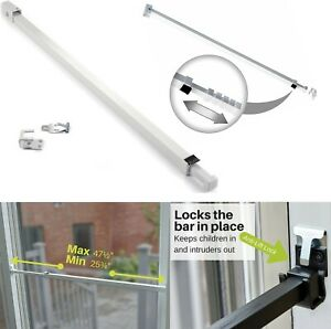 Sliding Glass Patio Door Security Bar With Anti Lift Lock