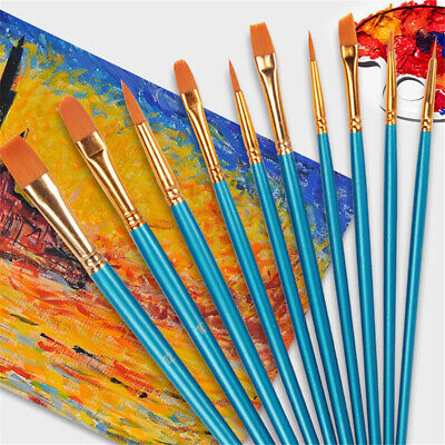 10Pcs Artist Paint Brushes Set for Acrylic Oil Watercolor Art Painting Drawing