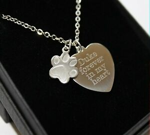 Personalised-Pet-Loss-Memorial-Necklace-Pendant-FREE-Engraving-Remembrance-Gifts